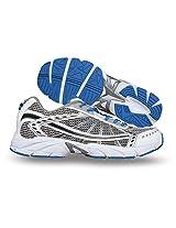 Nivia Falcon Running Shoes, Men's 10 UK (White/Silver/Blue)