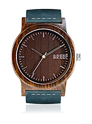 Breef Watches Reloj con movimiento japonés Unisex Ebano Original Azul Petróleo 44 mm