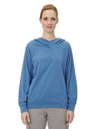 Puma Damen Shirt Pumascript Best Long Sleeved II (delft blue)