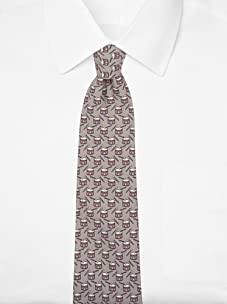 Hermès Men's Snare Drum Tie (Taupe/Black)