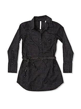 New Caro Blusa Fruncido Niña (Negro)