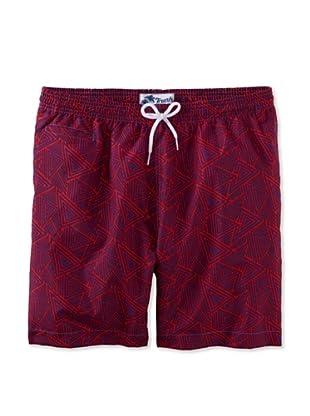 Trunks Men's San-O Swim Shorts (Triangles Lotus)