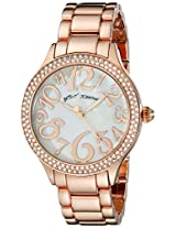 Betsey Johnson Women's BJ00527-01 Analog Display Quartz Rose Gold Watch