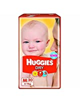 Huggies Dry Diapers - Medium, 30 Pieces Pack