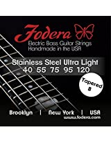 Fodera Electric Bass Guitar Strings, Roundwound 5-String Stainless Steel - 40120 UL TB