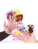 """Foto4easy """"The Three Little Pigs"""" Animal Finger Puppet Toy Educational Toys Storytelling Doll ( 8pcs"""