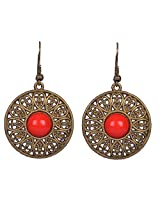 Saadi Gali Rhinestone Dangle & Drop Earring For Women (Gold)