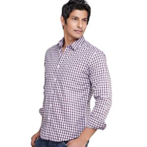 Peter England Purple Full Sleeves Cotton Men - Casual Shirts