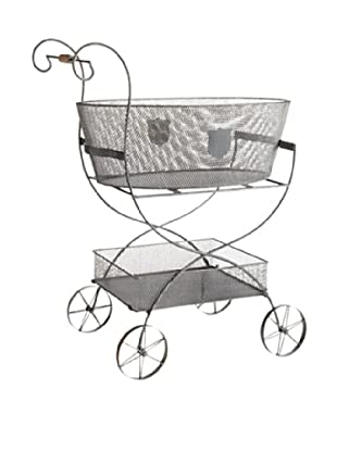 Napa Home & Garden Metal Decorative Garden Cart (Grey)