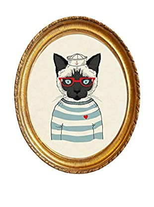 ReallyNiceThings Wandbild Sailor Cat