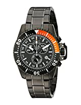 Invicta Watches, Men's Pro Diver Chronograph Black Textured Dial Black Ion Plated Stainless Steel, Model 11290