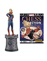 Marvel Captain Marvel White Queen Chess Piece With Magazine