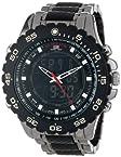 U.S. Polo Assn. Sport Men's US8170 Black and Gunmetal Ana-Digi Bracelet Watch