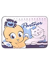 Cotton & Rubber Baby Mat - Blue