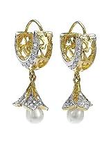 Silver Selection American Diamond Brass Dangle & Drop Earrings for Women