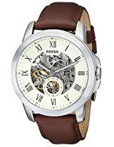 Fossil Grant Two-Hand Automatic Leather Men's Watch - Brown ME3052