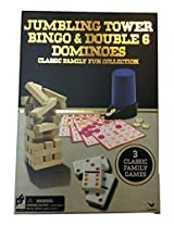 Jumbling Tower, Bingo & Double 6 Dominoes Classic Family Fun Collection
