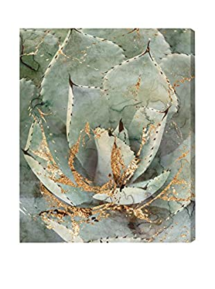 Oliver Gal 'Golden Succulent' Canvas Art