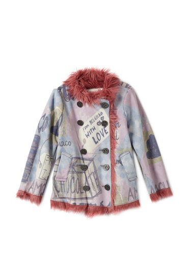 Custo Barcelona Girl's Double-Breasted Coat (Multi)