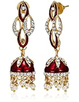 Ava Traditional Drop Earrings for Women Red) (E-SD-1242)