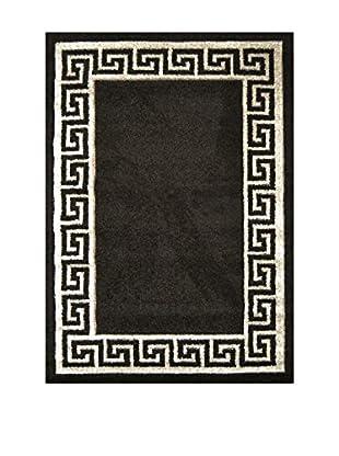 Chic Orange Teppich Verso schwarz 120x170 cm
