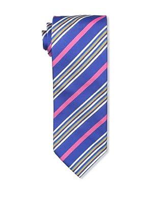 Massimo Bizzocchi Men's Bright Stripe Tie, Blue