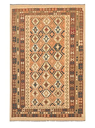 eCarpet Gallery One-of-a-Kind Anatolian Kilim Rug, Copper/Light Gold, 6' 6