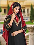 Variation Superb Black Dress Material For Women