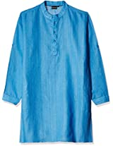 Veda Men's Knee Long Linen Kurta