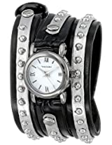 Vernier Women's VNR11117GM Gun-Metal Triple Wrap Studded Leather Watch