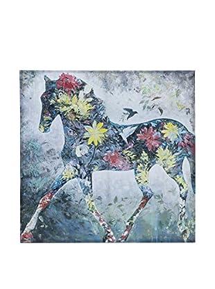 Novità Home Leinwandbild Flower Horse