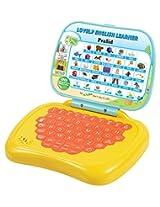Prasid Lovely English Learner Kids Laptop, Lemon/Orange