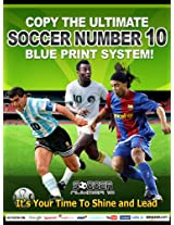 Soccer Number 10 Blue Print Book