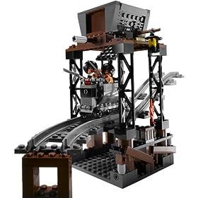 レゴ線路の仕掛けが仕掛けられたレールセット