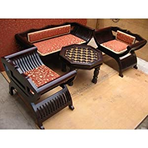 Induscraft Roman Designer Chair + Sofa Set(INSS01)