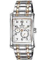 Titan Automatic Analog White Dial Men's Watch - 9350KM01