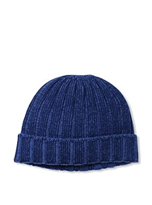 Sofia Cashmere Men's Cuffed Up Rib Hat (Navy)