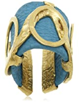 Bansri Leather Ring for Women (Turquoise) (R19 TURQ - J52)
