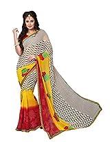 Dlines Multi Coloured Georgette Printed Saree