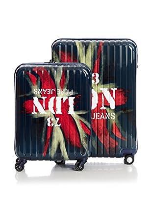 Pepe Jeans Set de 2 trolleys rígidos Ldn Azul Marino