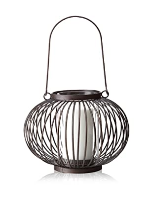 Industrial Chic Metal and Glass Candle Lantern