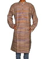 Rajrang Indian Ethnic Khadi Self Design Brown Kurta Casual Wear