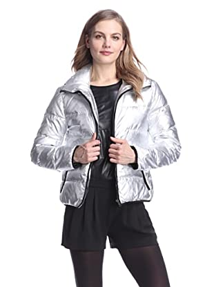 Clique Couture Women's Short Down Puffer Jacket (Silver)