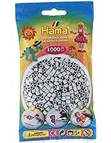 Bulk Buy:Hama Grey 207 17 Midi Beads 1,000 Count (6 Pack)