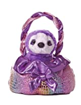 Aurora World Fancy Pal Pet Plush Carrier, Grape Sparkle Twist
