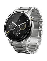 Motorola Moto 360 (2nd Gen) 42mm Natural Metal Dial with Natural Metal Bracelet Watch