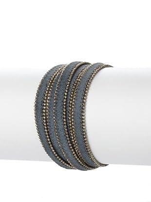Presh 5-Strand Ball Chain Wrap Bracelet, Gunmetal/Silver
