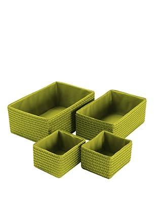 Zings Set De 4 Cajas Rectangulares Verdes