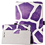 Ulak Pandamimi Folio Leather Stand Case Cover For Samsung Galaxy Tab 2 - Giraffe Purple