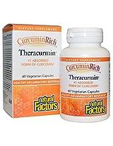 Natural Factors, CurcuminRich, Curcumin, Theracurmin, 300 mg, 60 Veggie Caps